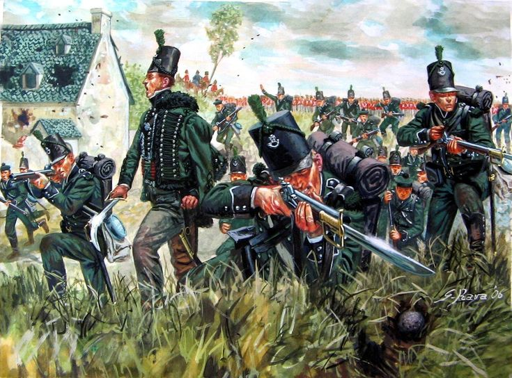 1/95th Rifles at La Haye Sainte in the sandpit at the battle of Waterloo