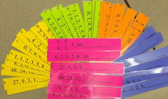 """Colleen Werner's lesson """"Introduction to Sequences""""  Objective: SWBAT differentiate among arithmetic, geometric and other types of sequences and understand that sequences and series can be used to model real world phenomena.   Big Idea: Detecting patterns in numbers helps students see the mathematical relationships that underlie real world phenomena. In this colorful lesson, students look at patterns of numbers and uncover the rule used to generate them."""