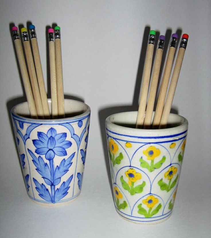 Handpainted floral pen holders, so pretty & a perfect little addition to your Christmas stocking or santa sack.