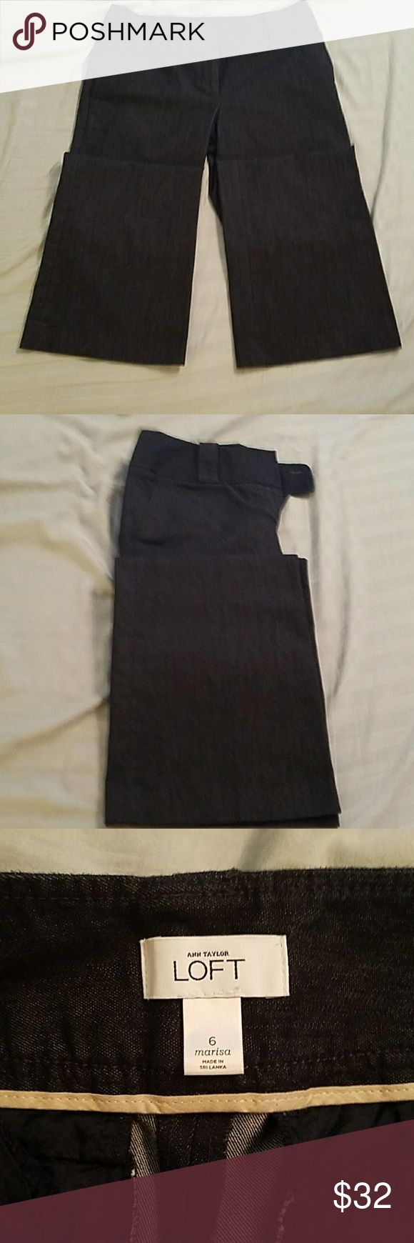 Anne Taylor Loft marisa jean Anne Taylor Loft marisa jean. Size 6. Very wide leg. Jeans are in great condition. Great for a dressy look. LOFT Pants