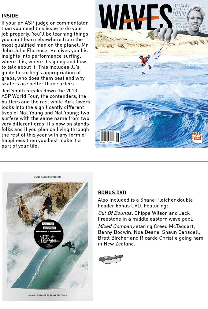 WAVES .  A magazine about surf,surfing and surfers.