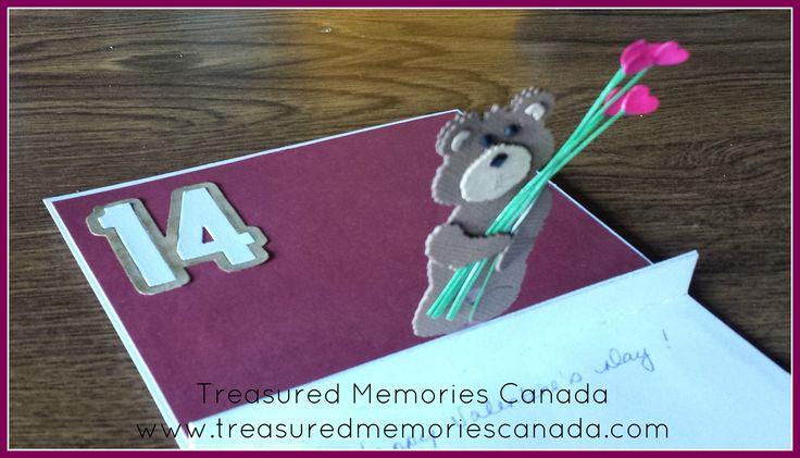 Valentine Teddy Bear  Treasured Memories Canada Scrapbooking www.treasuredmemoriescanada.com