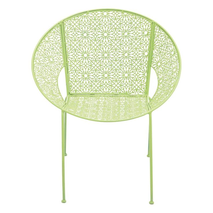 DecMode 30 in. Outdoor Lounge Chairs - Set of 4 Green - 28925