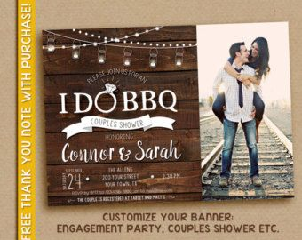 I Do BBQ Wedding Shower Invitation  // Couples Bridal Shower