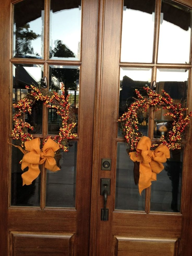 Fall Wreaths For Double Front Doors