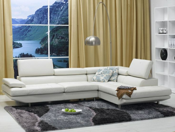 Living Room Sets White Leather