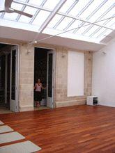 One of the luminous practice spaces at Rasa Yoga Rive Gauche.
