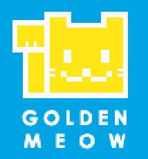 """Golden Meow company logo for """"Delivery Road"""" mobile game! #mobilegames #indiedev #indiegame #ios #androiddev #Android #unity #gamedevelopment #conceptart #pixelart #voxelart #watercolor #deliveryroad"""