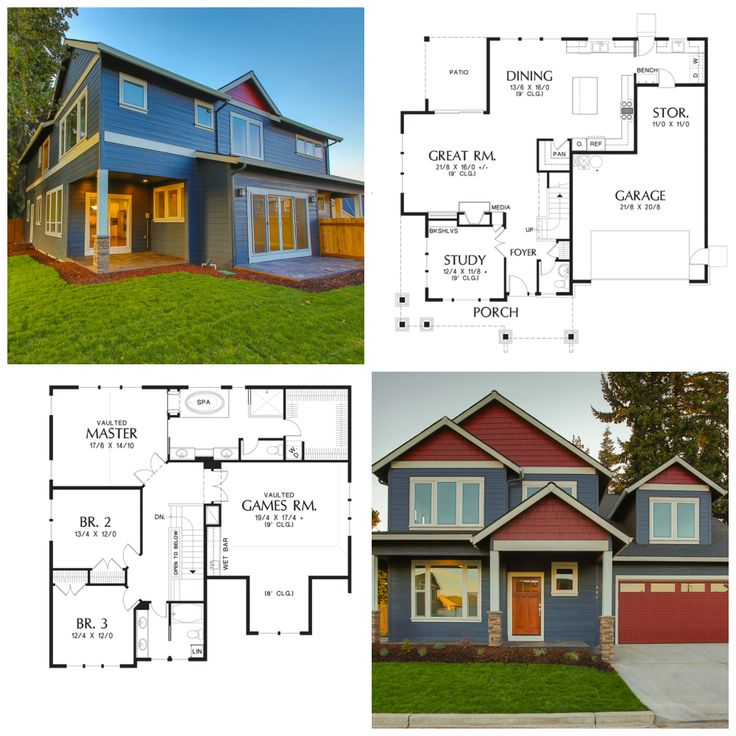 Hood River Home Plan.