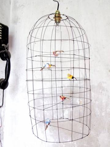 """Suspension-lighting """"Volière"""" by De Beaux Souvenirs - Nouveauté 2013"""