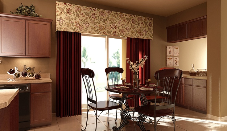 Love The Sliding Glass Door Window Treatment In The