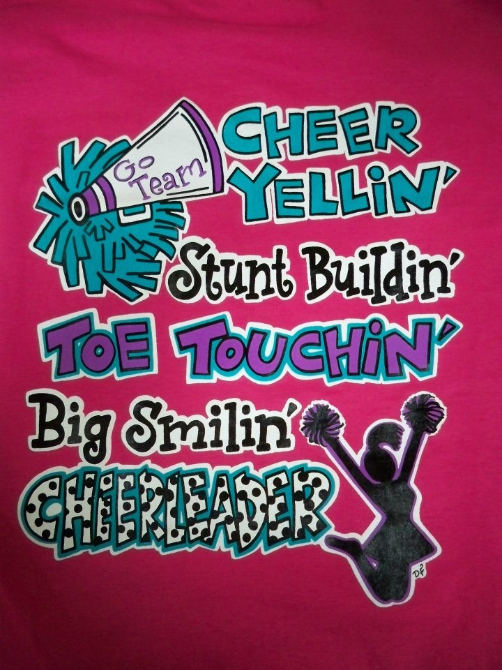 Southern Chics Big Smiling Cheerleader Cheer Sweet Girlie Bright T Shirt  Available In Sizes Youth XS Youth XL, Adult Picture Is Of The Back Of The  Shirt, ...