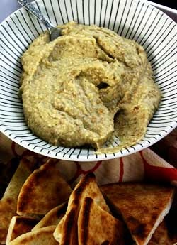 Middle Eastern spread of roasted eggplant. We love the sweet, smoky ...