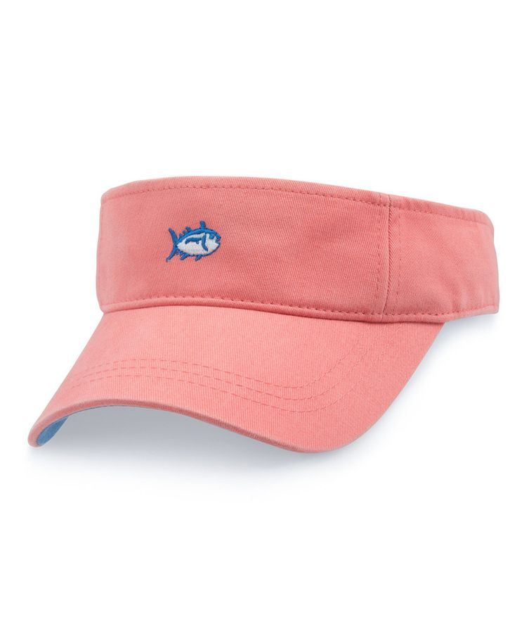 "Southern Tide's best selling visor. Their skipjack on the front. ""Southern Tide"" embroidered on the adjustable strap on the back."