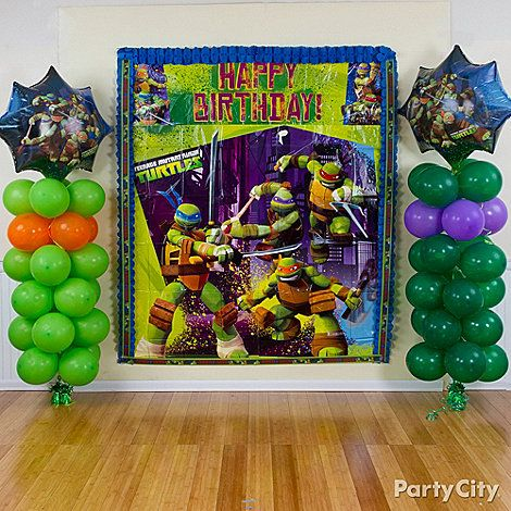 ninja turtle party decoration ideas | Ninja Turtles party ideas. From pizza to awesome party decorations ...