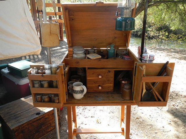 Chuck Box - I like the utensil holder on the right side door of this camp kitchen.