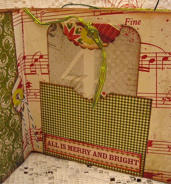 another view of wonderful, scrumptious mixed-media brown paper bag scrapbooks!!! by littlejoysstudio on etsy