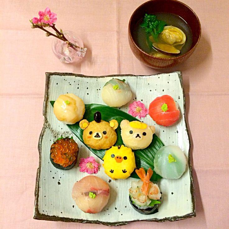 Rilakkuma Doll festival temari sushi
