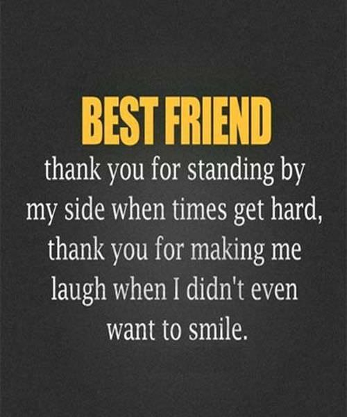 nice Best friend, thank You for standing - best friend forever