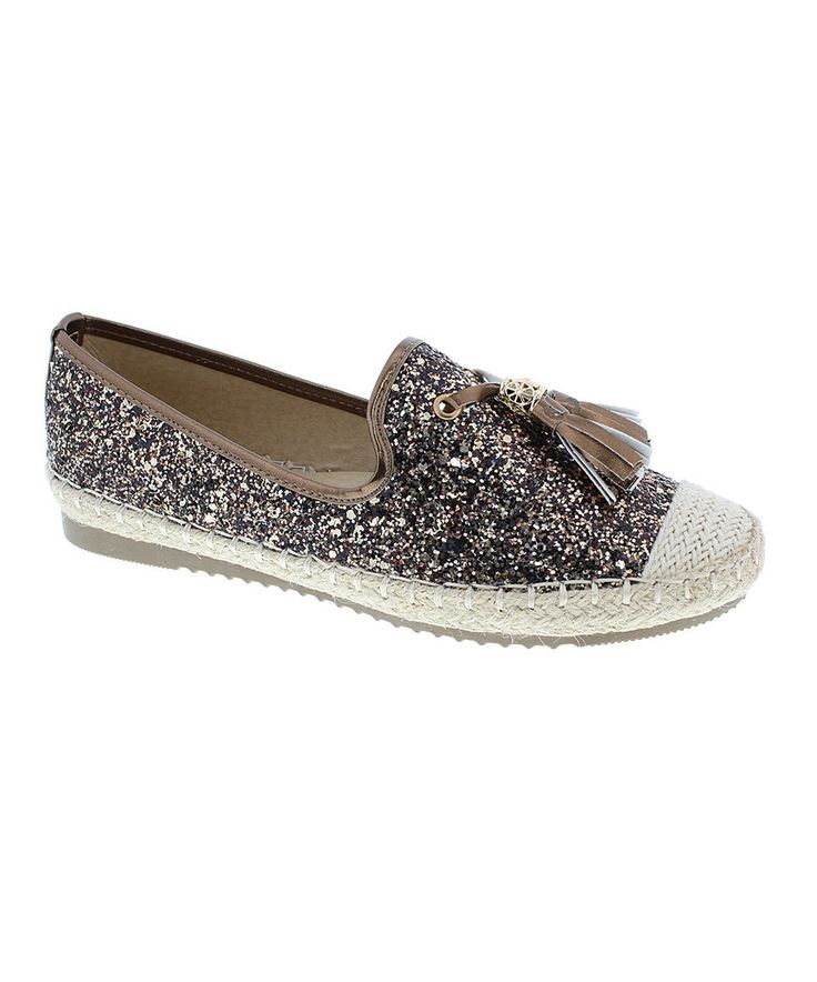 Look at this #zulilyfind! Step Up Shoes Bronze Sparkle Tassel Tommy Shoe by Step Up Shoes #zulilyfinds