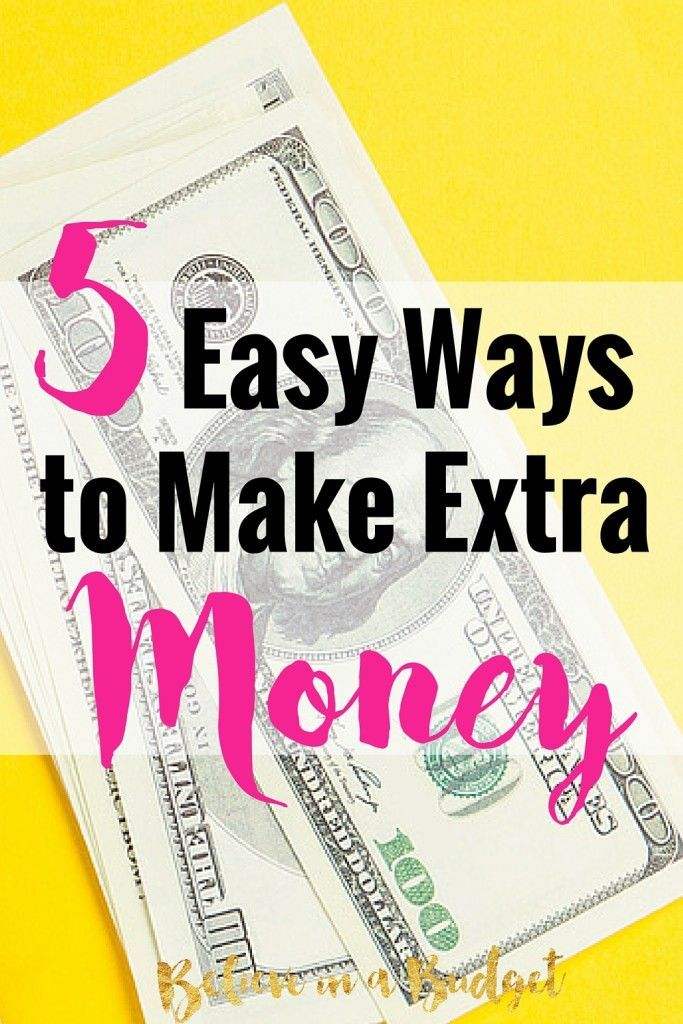 There are so many easy ways to make money. I'm sharing these 5 tips on how to make money by doing the things you normally do - like grocery shopping, shopping online and going to the drugstore. I have made over $900 doing 2 of these things, and the savings add up fast. Here's 5 ways to make extra money literally starting today!