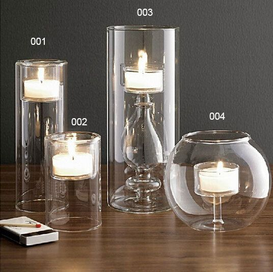 High quality glass candler holders home decoration candlesticks candelabra candle stand party decor wedding decoration
