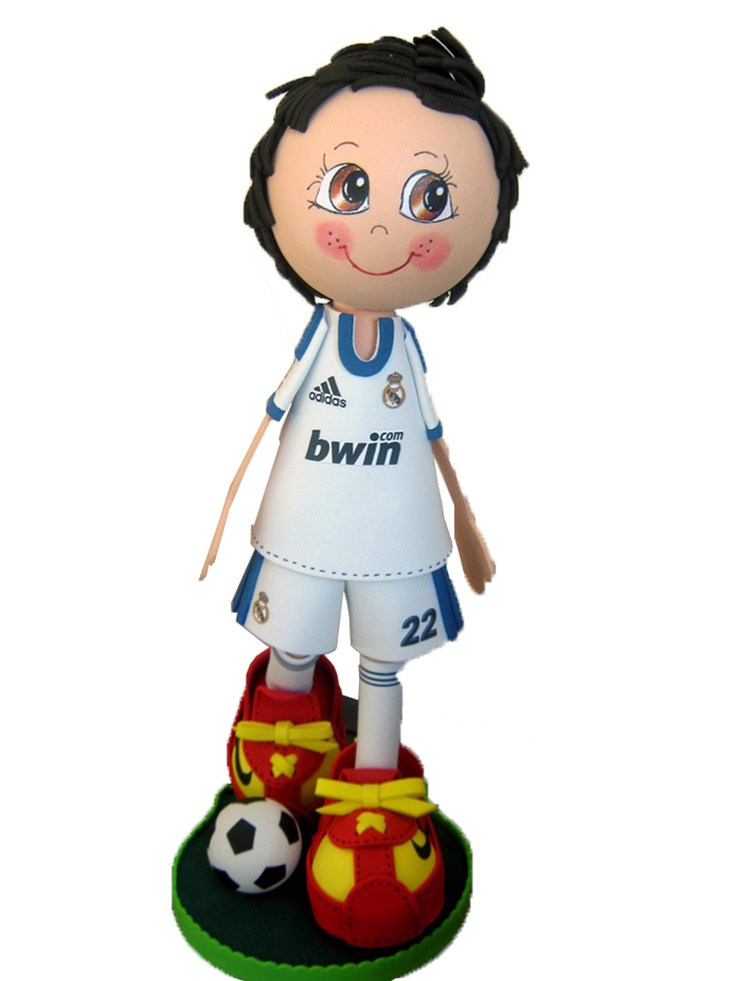 Fofucho jugador Real Madrid 2012/2013 de apróximadamente 25cm de altura.  Disponible también en 35cm y 50cm de altura.  Regalo ideal para los aficionados madridistas. Personaliza  a tu fofucho con tu jugardor merengue favorito.