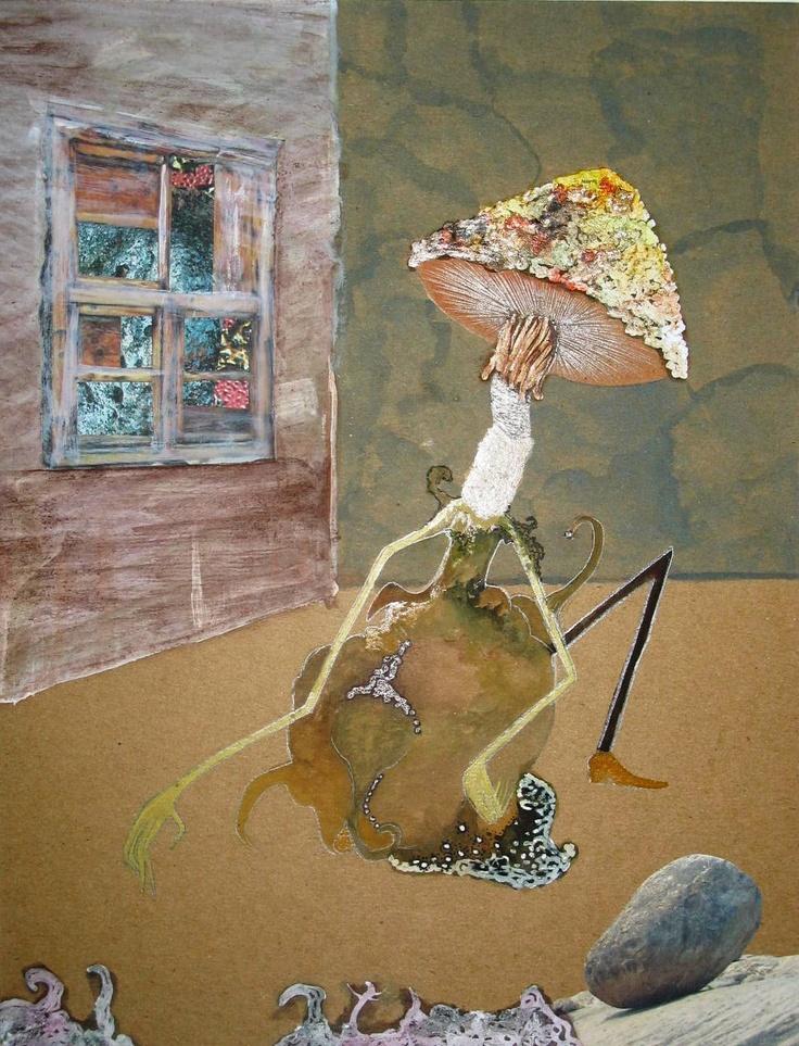"""Daily metamorphosis"". Collage. 2009."