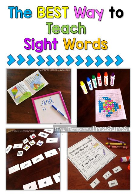 Mrs. Thompson's Treasures : How to Teach Sight Words: Ideas and Activities