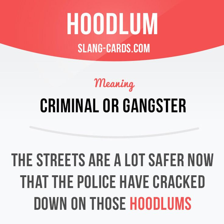 Hoodlum #English