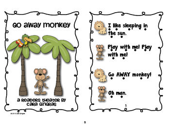 Noisy Monkey Retelling and Readers Theater - My kids love using their imagination. One of the ways we do this is to act out our stories through retelling and readers theater. This particular retelling/reader's theater is based on the book You Noisy Monkey by Micheal Coleman. $