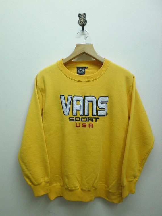 Vintage 90's Vans Sport USA Sweat Shirt by RetroFlexClothing