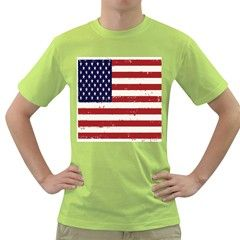 Flag United States United States Of America Stripes Red White Green T-Shirt by Simbadda