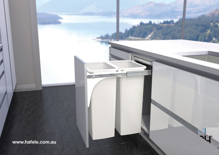 Hideaway Waste Bins - Brought to you by Hafele Australia. Hideaway Bins are ideal for use as a hidden storage solution within any area of the home - kitchen, bathroom, laundry, anywhere. Three intelligently designed, New Zealand made ranges are available, offering a simple and stylish space-saving solution.