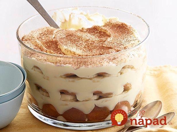 Skvelý dezert snádychom vyhlásenej talianskej pochúťky – tiramisu. Ja som si ju však upravila, pretože unás doma všetci milujú pudingové krémové dezerty. Vyskúšajte aj vy túto verziu obľúbenej dobroty s pudingom a čerstvým banánom. Potrebujeme: 900 ml …