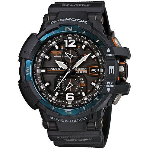 The Casio G-Shock GWA1100-2A Aviator Watch is a new addition to the G-Aviation lineup of timepieces which are preferred by pilots all over the world. This model withstands the shock of gravitational d
