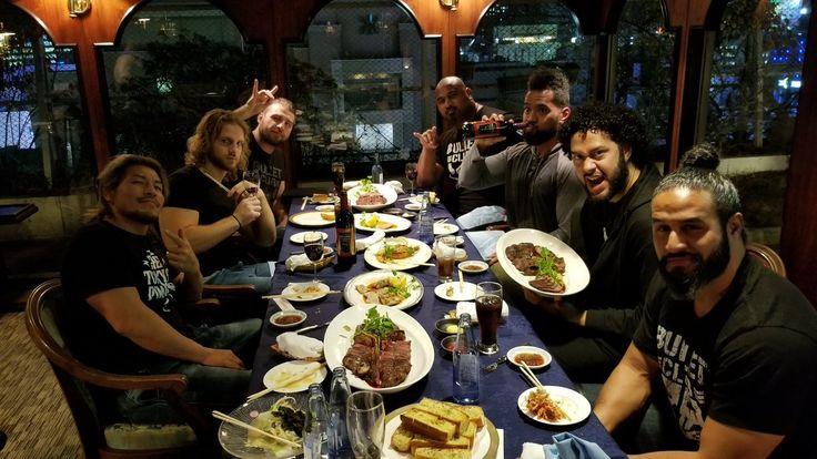 Bullet Club::Tama Tonga, Leo Tonga, Tanga Loa, Bad Luck Fale, Chase Owens, Hangman Page, and Yujiro Takahashi