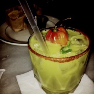 This was sooooo good!!!! (Avocado and cilantro margarita)