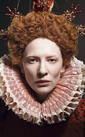 Cate Blanchett as Queen Elizabeth I.