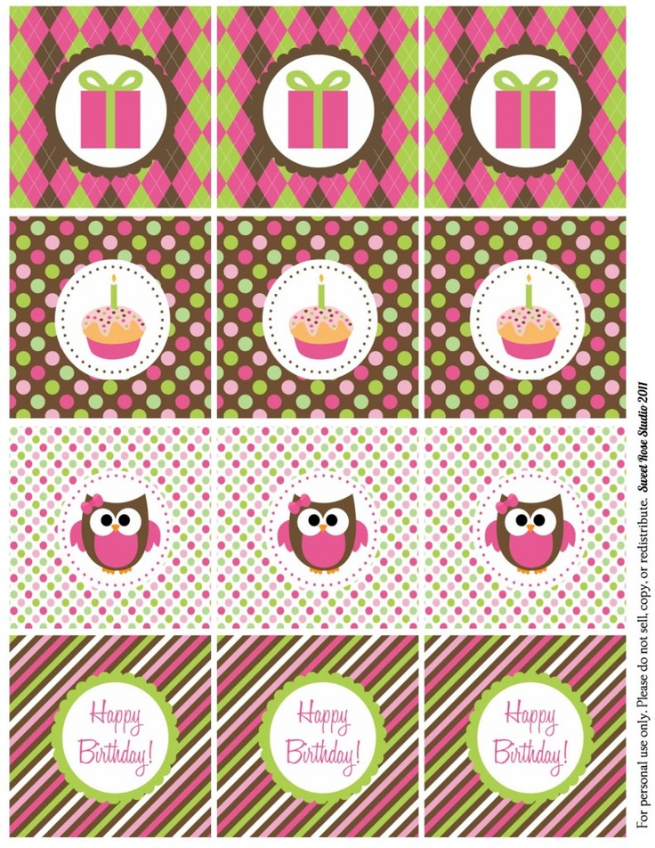 Owl Birthday Freebie!
