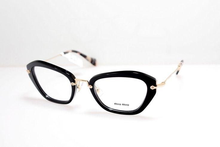 New Original Eyewear Miu Miu MU 05NV 1AB1O1 Women Black Cat-eye Clear #MiuMiu #Cateye