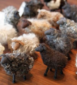 felted sheep. adorable.