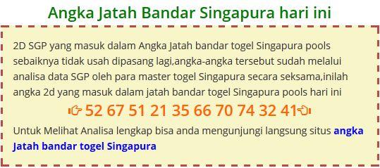 Jatah bandar singapura Kamis 12 November 2015