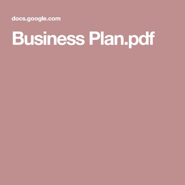 Best  Business Plan Pdf Ideas On   Small Business