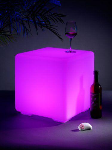 Fabulous http ift tt fikVO Auraglow Sitzw rfel LED RGB Hocker Leuchtw rfel Lounge