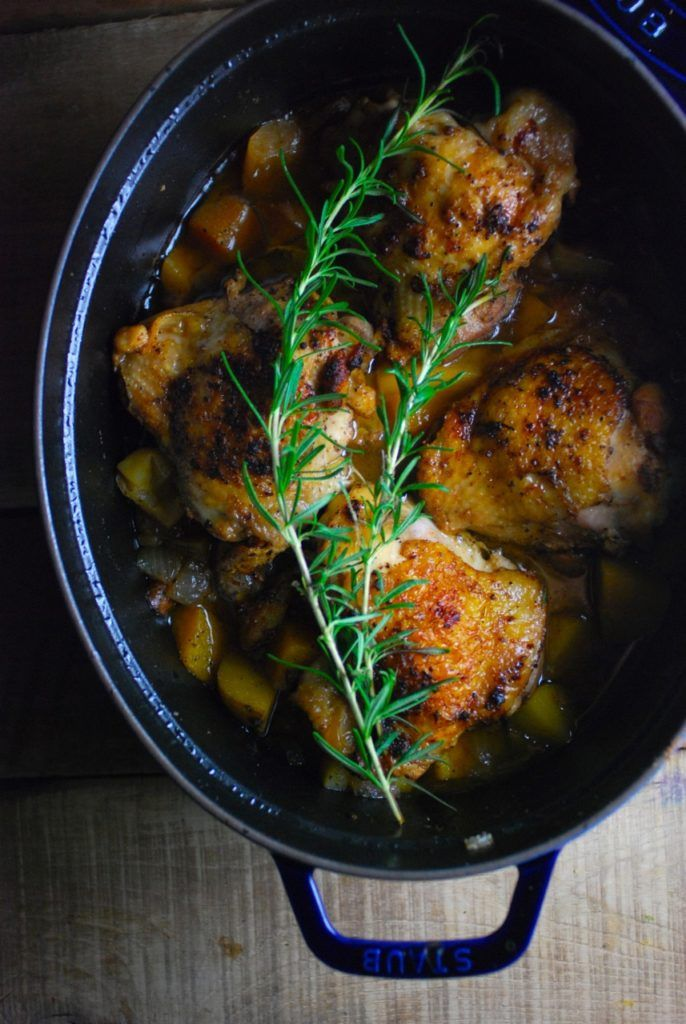 Housewife Chicken, Apples and Fall Vegetables