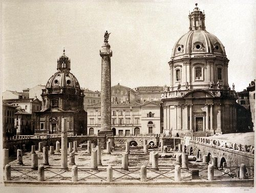 Forum Traiani with Trajan's column, Rome 1860-1865 Albumen print