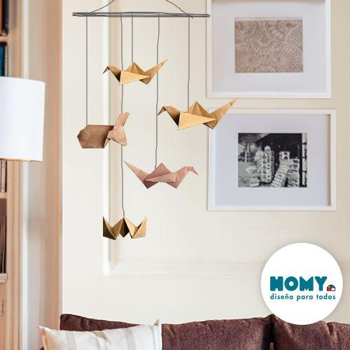 #Homy #Deco #inspiración #origami #grulla #móvil