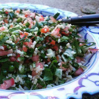 Tabouleh er en salat som hører hjemme i Midtøsten. Det er en av de mest kjente rettene fra det levantinske kjøkkenet.