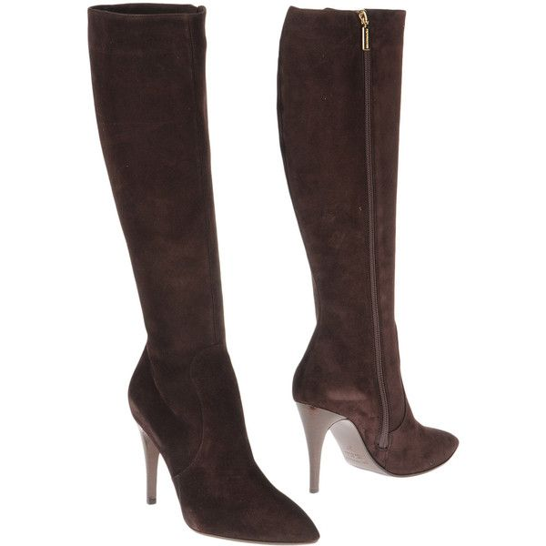 BRUNO MAGLI High-heeled boots (1 520 SEK) ❤ liked on Polyvore featuring shoes, boots, real leather boots, rubber sole boots, high heel boots, zipper shoes and genuine leather boots